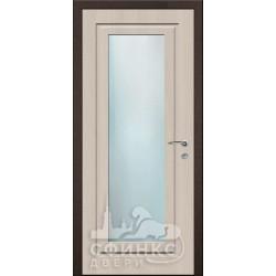 Входная дверь с зеркалом и шумоизоляцией 66-10