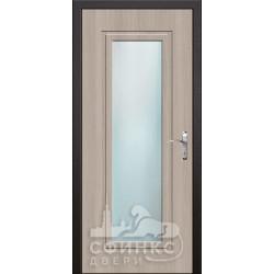 Входная дверь с зеркалом и шумоизоляцией 66-38
