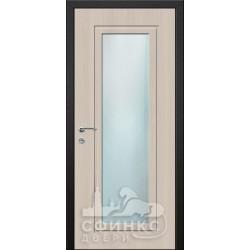 Входная дверь с зеркалом и шумоизоляцией 66-45
