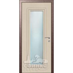Входная дверь с зеркалом и шумоизоляцией 66-42