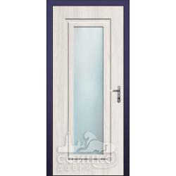 Входная дверь с зеркалом и шумоизоляцией 66-40