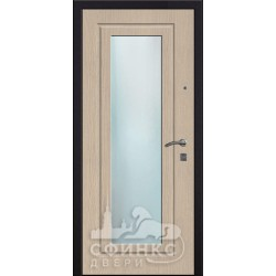 Входная дверь с зеркалом и шумоизоляцией 66-06
